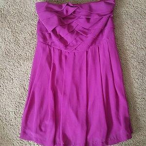 Express size 12 flowy purple dress strapless